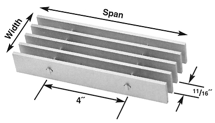 Brown-Campbell Company - 11A-4/11A-2 Aluminum Bar Grating