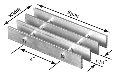Brown-Campbell Company-15A-4/15A-2 Aluminum Bar Grating
