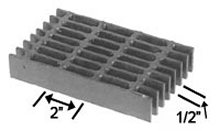 Brown-Campbell Company-8-4/8-2 Carbon Light Duty Bar Grating