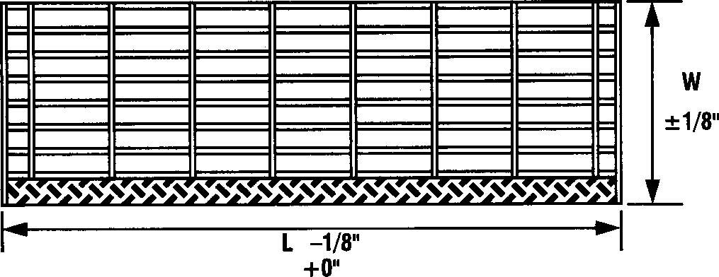 Design Details - Tread Length & Width Tolerance