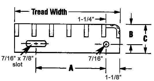 Steel & Stainless Steel - Tread Width Design Details