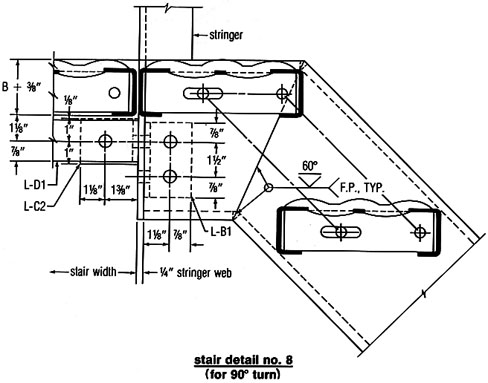 Grip Strut® Stair Tread Installation Diagram