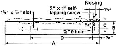 Regular Grip Strut® Stair Treads with Abrasive Nosing Diagram
