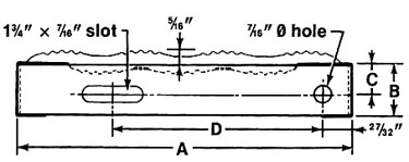 Regular Grip Strut® Stair Treads Diagram