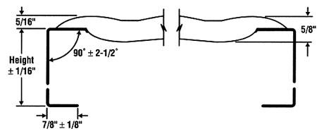 Grip Strut® Plank - End Diagram