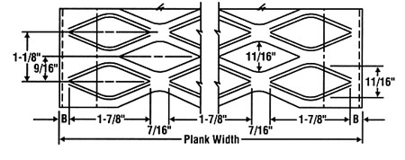 Grip Strut® Plank - Top View