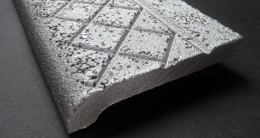 Abrasive Aluminum Nosings - Side View