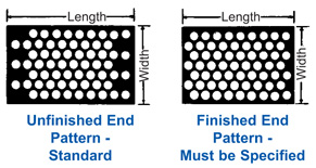 Perforated Metal - End Patterns