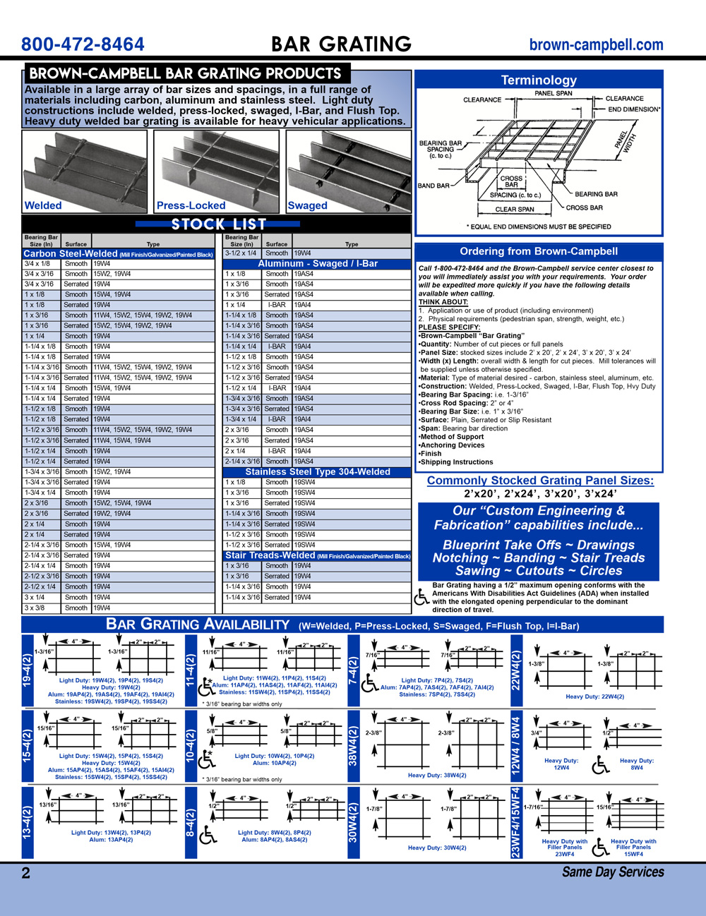Brown-Campbell Product Guide - Page 2