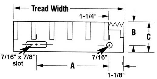 Aluminum I Bar   Tread Width Design Details